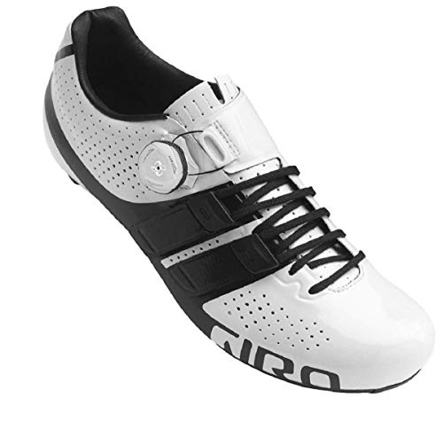 Giro Factor Techlace Road Zapatos de Ciclismo de Carretera Hombre, Multicolor (White/Black 000), 42.5 (8 UK)