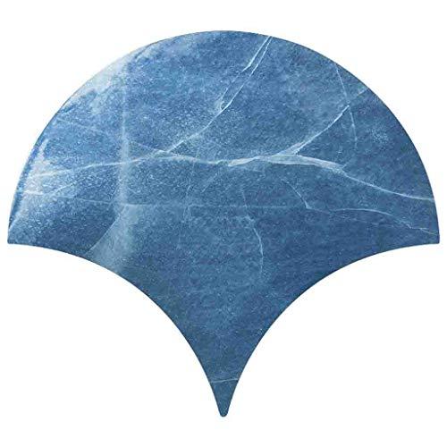 CAOQAO Fai da te scale di pesce pasta piastrelle arte adesivi murali carta da parati decorativa/Dimensioni: 14.7x13.1 CM/PVC/Soggiorno cucina bagno mobili arte decorativ