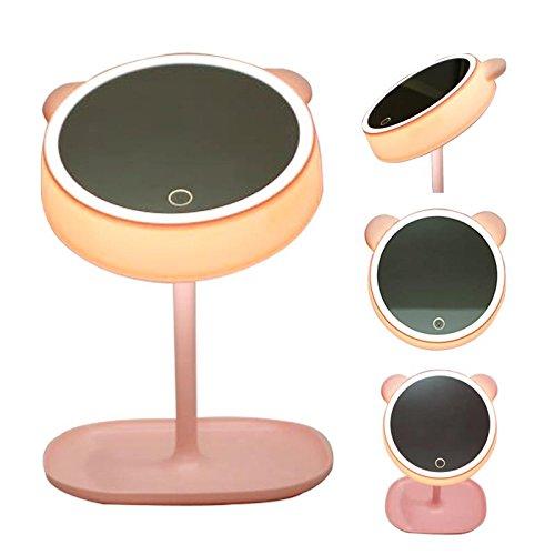 Amna Shing großes Display Make-up Spiegel mit Licht, LED-beleuchteten Kosmetikspiegel mit LED...