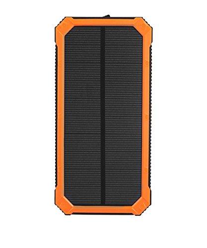 Dual USB Port Solar Ladegerät 10000mAh Portable Power Bank mit LED Taschenlampe für Handys und andere USB Geräte , orange