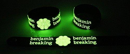 Breaking Benjamin nuovo. Brillano al buio Bracciale BMN 34G