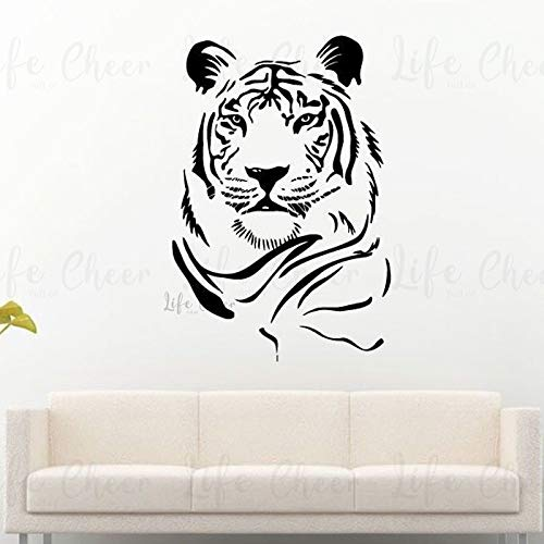 Geiqianjiumai Tiger Tier Wandtattoo Wildtier Tierwelt im Freien Kunst Wandmalerei 34.8 cm x 50.4 cm