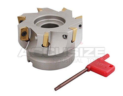 accusize–accusize–7,6x 2,5cm 90°. Quadratische flaschenschulter indexable Face Mill W/Ende APKT1604Einsatz. # 4508–0018