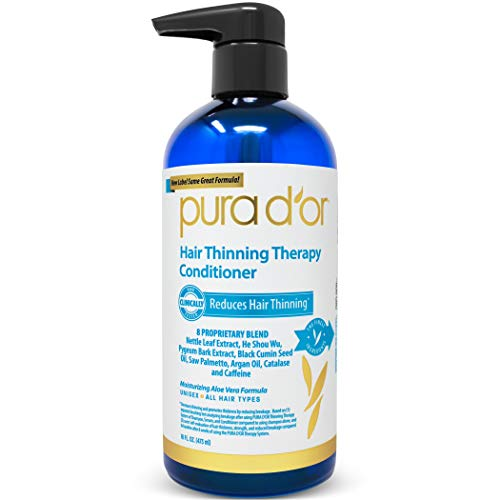Aloe Moisturizing Shampoo (PURA D'OR Hair Loss Prevention Therapy Conditioner, 16 Fluid Ounce by PURA D'OR)
