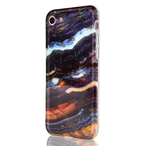 Marmo Cover per iPhone 8 / iPhone 7 4.7 Pollice, Vandot Morbido Custodia per iPhone 8 / iPhone 7 4.7 Pollice Silicone Gel Ultra Sottile Premium TPU Flessibile Case IMD Tecnologia di Disegno Marble,TPU model 18
