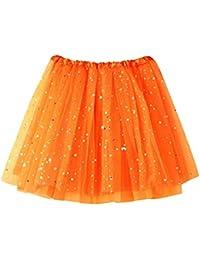 5c1036f437 VJGOAL Moda Casual para Mujer Plisado Gasa Estrellas de Lentejuelas Malla  Mini Falda del tutú Suave