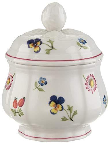 Villeroy & Boch Petite Fleur Zuckerdose, 200 ml, Höhe: 6,5 cm, Premium Porzellan, Bunt