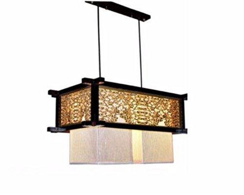 ZHGI Rustico moderno lampadario di legno pelle vintage lampade lampadario minimalista ristorante hotel si accende,Testa doppia