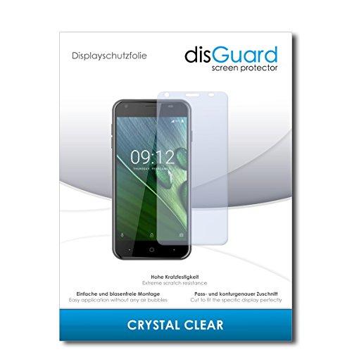 disGuard® Bildschirmschutzfolie [Crystal Clear] kompatibel mit Acer Liquid Z6 [2 Stück] Kristallklar, Transparent, Unsichtbar, Extrem Kratzfest, Anti-Fingerabdruck - Panzerglas Folie, Schutzfolie