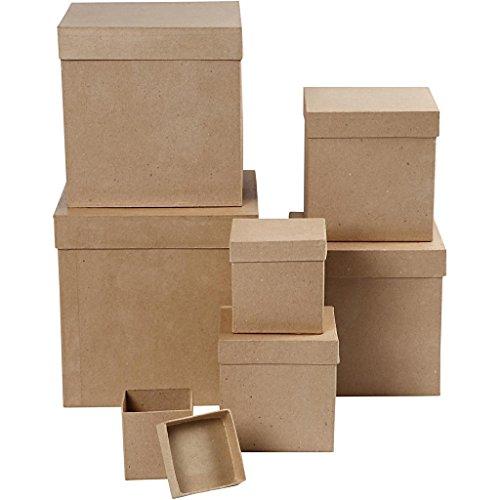 Quadratische Schachteln, 7sort.