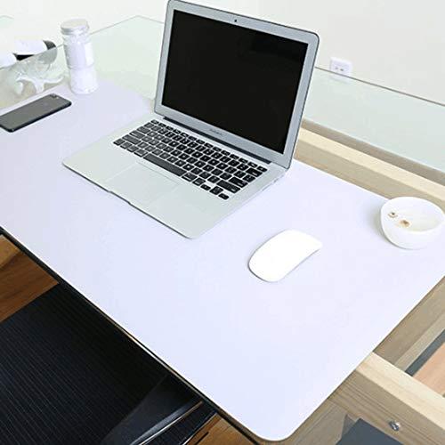 Für die Schule Wr Multifunktions-Business-Doppelseitig PVC-Leder Mauspad Tastatur-Pad Tischmatte Computer-Schreibtisch-Matte, Größe: 90 x 45 cm (Schwarz Rot) (Farbe : Silver Grey)
