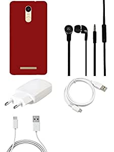 Charger Headphone Cover USB Cable combo for Redmi Note 3