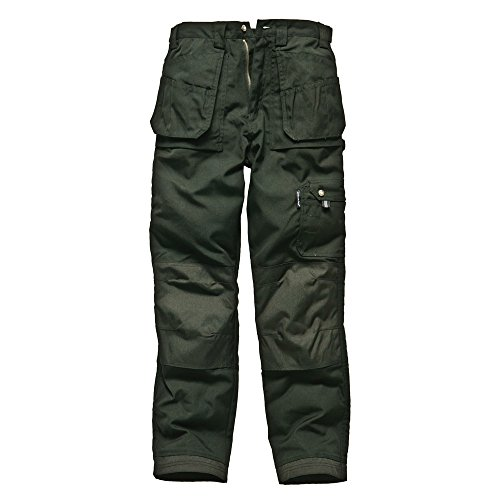Dickies Mens Eisenhower Heavy Duty Workwear Multi-Pocket Pants Trousers Olive