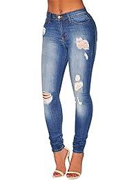 ZongSen Femmes Pantalon Vintage Slim Rétro Trous Crayon Punk Collants  Classique Déchiré Denim Jeans 54b5a2db28f6