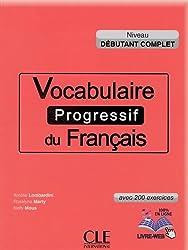 Vocabulaire progressif du francais  Niveau debutant complet Ksiazka +CD