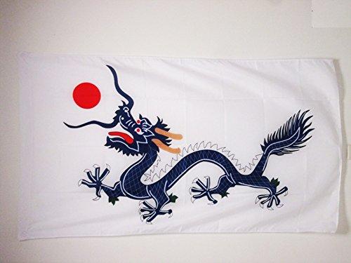 AZ FLAG Bandera de China DINASTIA Qing 90x60cm para Palo - Bandera Dragon Chino 60 x 90 cm