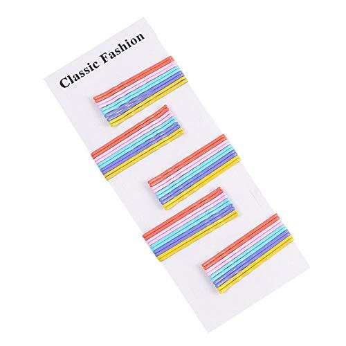 Nearthde 50 STÜCKE Farbe Haarspangen Für Mädchen-Snap Haar Und Haarverlängerungen Für Frauen-Legierung Rand Clip Zubehör Snap Rand