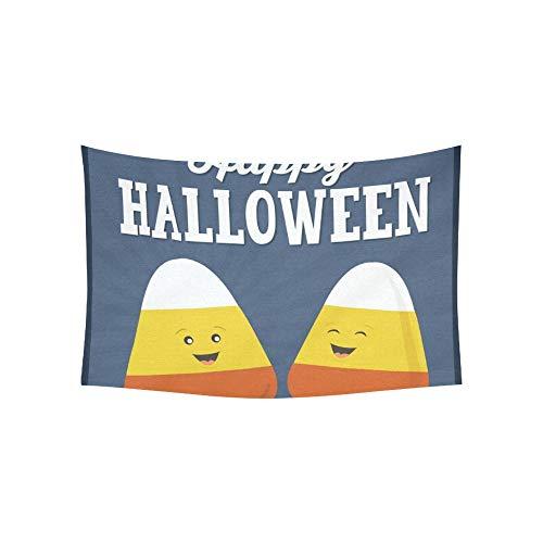 JOCHUAN Tapisserie Happy Halloween Candy Corn Cartoon Candy Tapisserien Wandbehang Blume Psychedelic Tapisserie Wandbehang Indian Dorm Decor Für Wohnzimmer Schlafzimmer 60 X 40 Zoll -