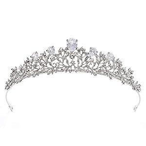 ZCM Braut Krone,Krone Krone Blume Headwear Hochzeit Haarschmuck