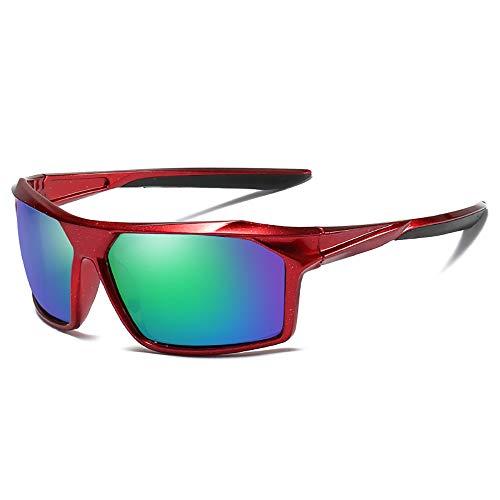 FYFY 2019 Polarisierte Sonnenbrille Herren Photochromatisch Sports für100% UVA UVB Schutz Metallrahmen Leicht,Red