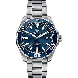 TAG Heuer Aquaracer Reloj de hombre cuarzo 43mm correa de acero WAY101C.BA0746
