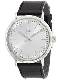 Calvin Klein K3W211C6 - Reloj analógico de cuarzo para hombre con correa de piel, color negro