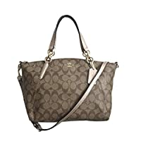 Coach F39590 Small Kelsey Satchel Bag for Women - Leather, Beige