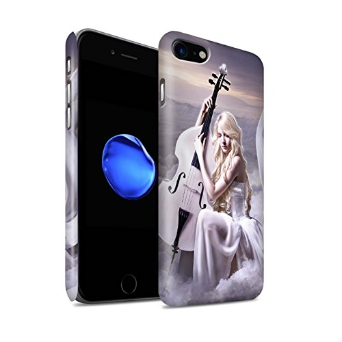 Offiziell Elena Dudina Hülle / Matte Snap-On Case für Apple iPhone 8 / Harfe/Harfenspieler Muster / Trost der Musik Kollektion Cello/Wolken