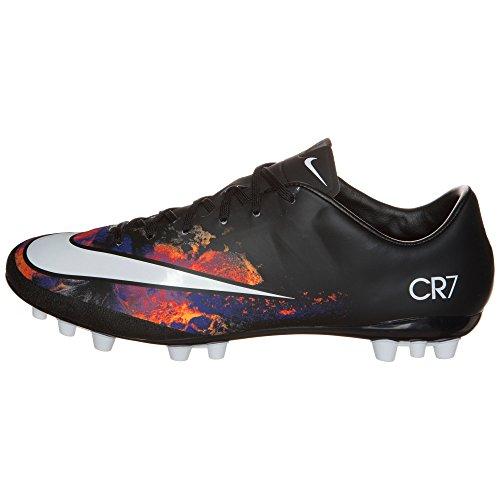 Nike Mercurial Veloce II Cr AG-R, Scarpe da Calcio Uomo Multicolore (Negro / Blanco / Naranja / Rosa (Black/White-Total Crimson))
