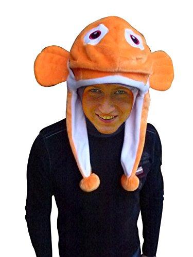 Mütze als Fisch-Kostüm, F118/00, Hut für Männer und Frauen! Clown-Fisch Kostüme Fische als Faschings- Karnevals Fasnachts-Geschenk, Faschings-Kostüme für Erwachsene, Gruppen-kostüme (Mann Kostüm Fisch)