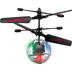 Speedlink 920005de mtcl helicóptero vuelo drohnen Balance parte–Drone Control Juego Game (colorida iluminación mediante 4ledes–Rotor velocidad: 2.800u/min.–Altura Detección mediante sensor de infrarrojos), multicolor