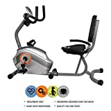 Reach Recumbent Exercise Bike | Exercise Fitness Cycle with Back Support for Home