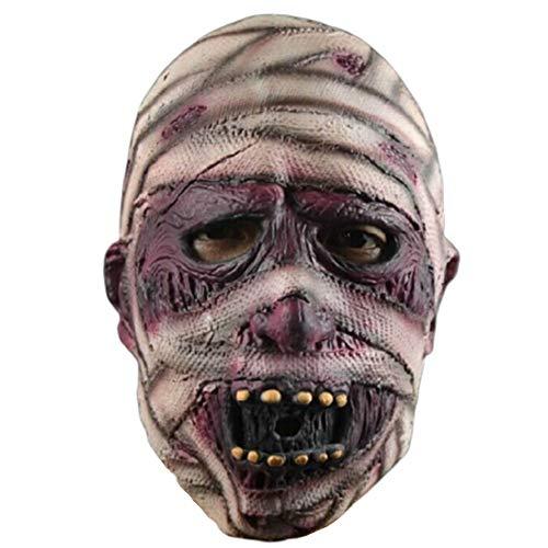 Unbekannt Super Ghost,Gruselige Mumien Maske Halloween Zombie Vollkopf Latex Maske für Karnevalsparty, Horror Themenbar (Für Mumie Halloween-kostüme Frauen)