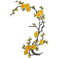 Lorjoy Flor del Ciruelo de la Flor del Applique del Remiendo Bordado de la Ropa de