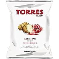 Torres - Patatas Fritas Selecta Sabor a Jamón Ibérico - 150 gramos
