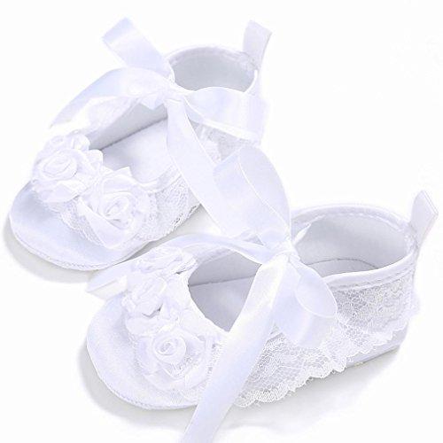 Omiky® Mode 2017 Kleinkind Mädchen Krippe Schuhe Neugeborene Blume Soft Sohle Anti-Rutsch Baby Sneakers Weiß