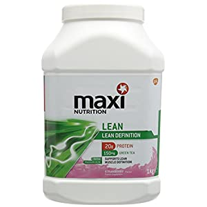 MaxiNutrition Lean Definition Protein Shake Powder, 1 kg - Strawberry