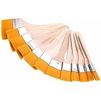 OFKPO 12 Pcs Brochas de Nylon para Pintar, Dibujo,Pared y Muebles ect