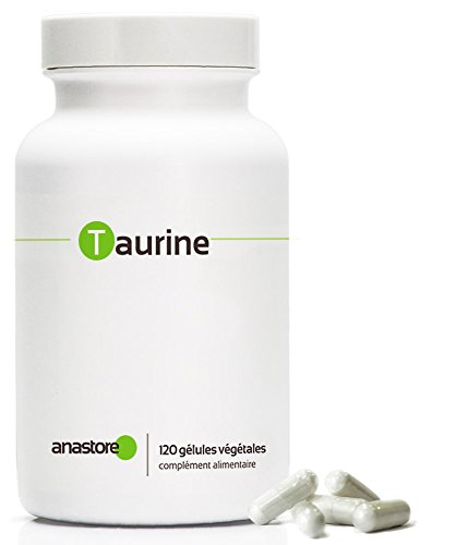 TAURINE * Pureté garantie supérieure à 99 % * 500 mg / 120 gélules végétales * Vivifie le corps et l'esprit * Fabriqué en FRANCE * Qualité contrôlée par certificat d'analyse * 100% satisfait ou remboursé