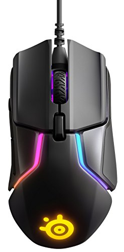 Steel Series Maus (SteelSeries Rival 600 Gaming-Maus, TrueMove3+ Dual Optical Sensor, 0,05 Lift-off-Distanz, Gewichtssystem, RGB-Beleuchtung)