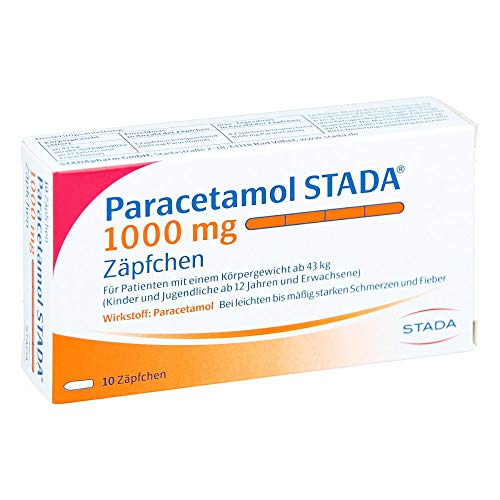 Paracetamol STADA 1000 mg Zäpfchen, 10 St. Zäpfchen