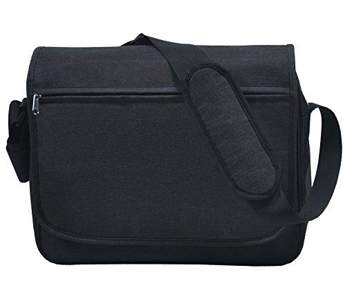 MIER 15.6 Inch Shoulder Satchel Bag Laptop Messenger Bag Briefcase with Multiple Pocket for Work, School and Weekend (Black) (Briefcase Computer Bag)