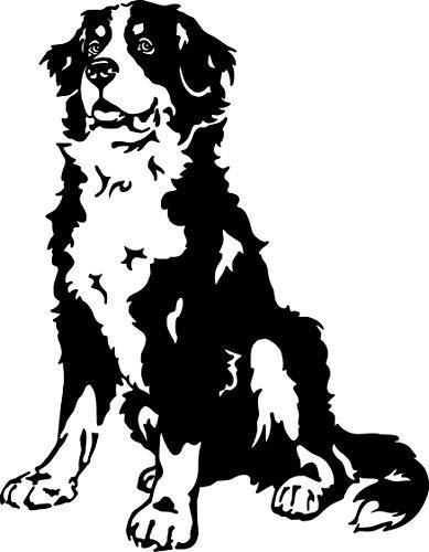 amberdog Berner Sennenhund Autoaufkleber Fensterfolie Art.Nr.AT0165 Aufkleber für Auto Wohnmobil Wohnwagen Autoaufkleber (60x40cm, schwarz) -