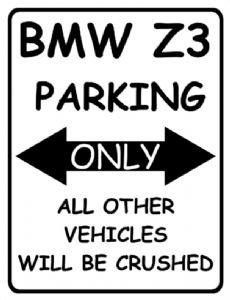 1935 BMW Z3 EXTRA GRANDE DE METAL SOLO ESTACIONAMIENTO PUBLICIDAD SIGNO DE PARED RETRO ART