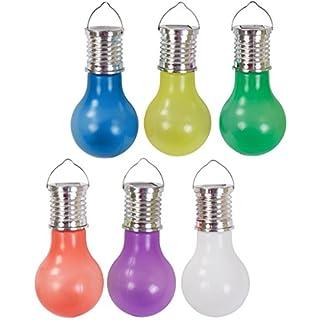 Alma Garden LED Kunststoff Glühbirne Garten-Dekoleuchte Solarlampe Partyleuchte Hängelampe, Farbe:gelb
