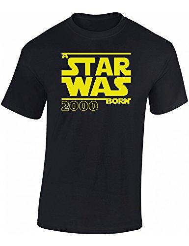 A Star was Born 2000 - Geburtstags T-Shirt 18. Jahre - Geschenk Zum 18. Geburtstag - Geburtstaggeschenk Zum 18. Geburtstag - Jahrgang 2000