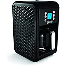 Morphy Richards Black Pour Over Coffee Machine Vector 163002 Pour-Over Coffee Machine 12 Cup 900w, Black Coffee Machine