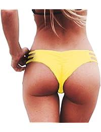 Rcool Mujer Tejido Bikini Ropa Interior Braguitas Traje de Baño Bikini Traje de Natación Vendaje