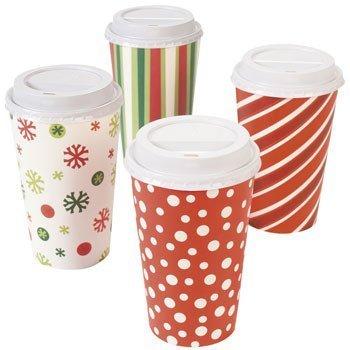(16Oz Paper Bright Weihnachten Isolierter Kaffeetassen (12Tassen))