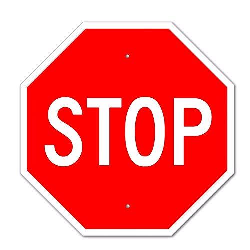 Carerfeme Metall-Blechschild, Stoppschild, Aluminium, Straßenverkehr, Straßenschilder, Dekoration, lustiges Aluminium, 30,5 x 30,5 cm (enthält kein Seil) (Lustige Straßenschilder)